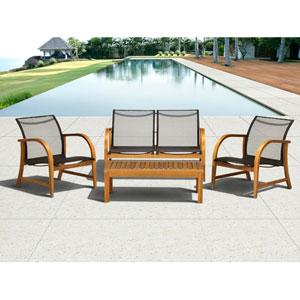 Amazonia Manhattan Eucalyptus Four-Piece Deep Seating Set