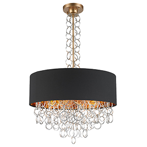 Catena Matte Gold Six-Light Pendant