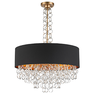 Catena Matte Gold Eight-Light Pendant