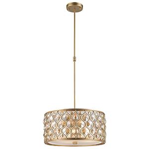 Paris Matte Gold Four-Light Pendant