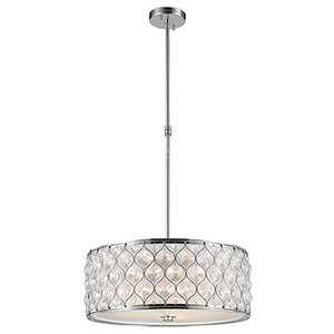 Paris Polished Chrome Five-Light Pendant