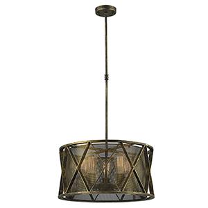Nautilus Antique Bronze Five-Light Pendant