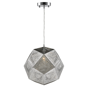 Geometrics Chrome 12-Inch One-Light Pendant