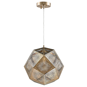 Geometrics Champagne 12-Inch One-Light Pendant