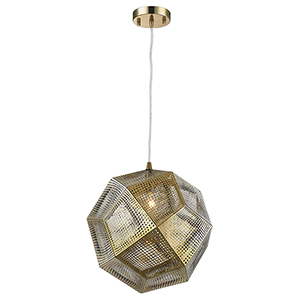 Geometrics Rose Gold 12-Inch One-Light Pendant