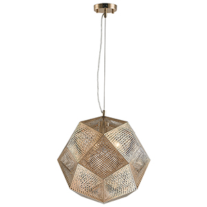 Geometrics Champagne Three-Light Pendant