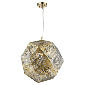 Geometrics Rose Gold Three-Light Pendant