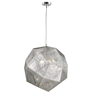 Geometrics Chrome Five-Light Pendant