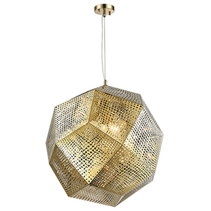 Geometrics Champagne Five-Light Pendant