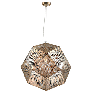 Geometrics Rose Gold Five-Light Pendant