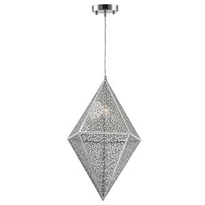 Geometrics Chrome One-Light Pendant