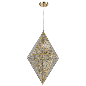 Geometrics Champagne One-Light Pendant