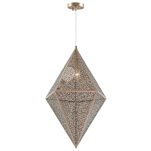 Geometrics Rose Gold One-Light Pendant