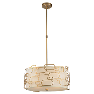 Montauk Matte Gold Five-Light Pendant