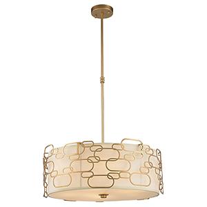 Montauk Matte Gold Nine-Light Pendant