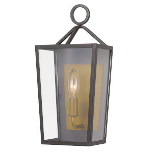 Monterrey Satin Brass 14-Inch One-Light Outdoor Wall Mount