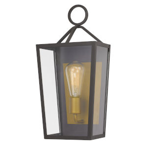 Monterrey Satin Brass 17-Inch One-Light Outdoor Wall Mount