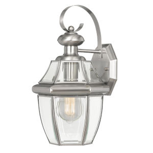 Westport Brushed Stainless Steel One-Light Outdoor Wall Mount