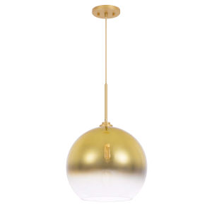 Phantasm II Gold One-Light Champagne Graduated Color Glass Pendant