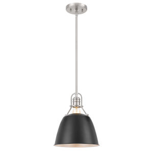 Helmut Brushed Nickel and Black One-Light Pendant