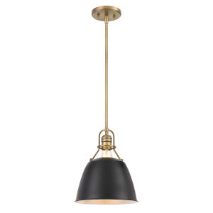 Helmut Antique Brass and Black One-Light Pendant