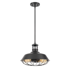 Wilbur Black Two-Light Pendant