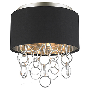 Catena Matte Nickel Three-Light Flush Mount