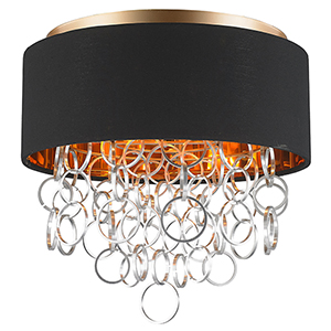 Catena Matte Gold Four-Light Flush Mount