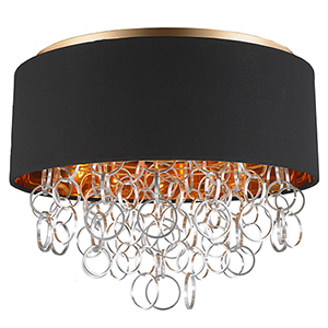 Catena Matte Gold Five-Light Flush Mount