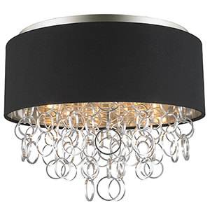 Catena Matte Nickel Five-Light Flush Mount