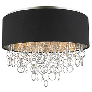 Catena Matte Nickel Six-Light Flush Mount