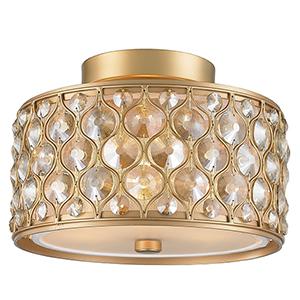 Paris Matte Gold Three-Light Semi Flush Mount