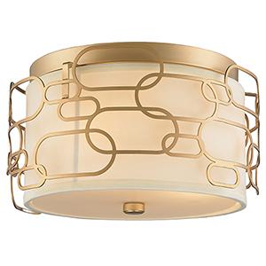 Montauk Matte Gold Three-Light Flush Mount