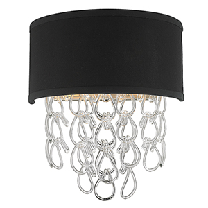 Halo Matte Nickel Two-Light Wall Sconce