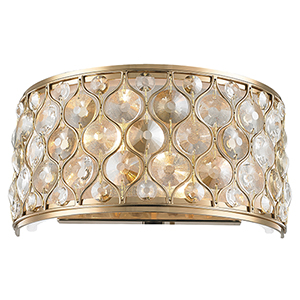 Paris Champagne Two-Light Wall Sconce