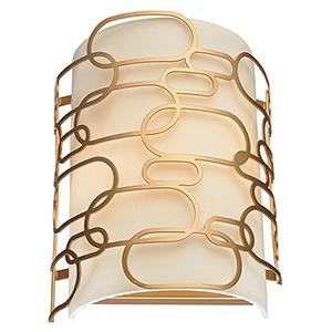 Montauk Matte Gold Two-Light Wall Sconce
