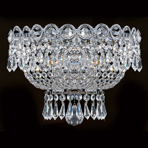 Empire Two-Light Chrome Finish with Clear-Crystals Wall Sconce
