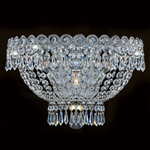 Empire Three-Light Chrome Finish with Clear-Crystals Wall Sconce