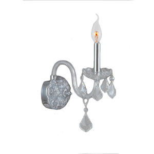 Provence Polished Chrome One-Light Wall Sconce