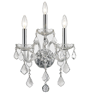Provence Polished Chrome Three-Light Wall Sconce