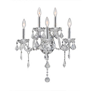 Provence Polished Chrome Five-Light Wall Sconce