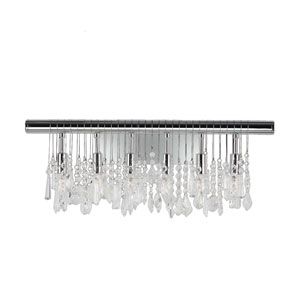 Nadia Polished Chrome Six-Light Wall Sconce