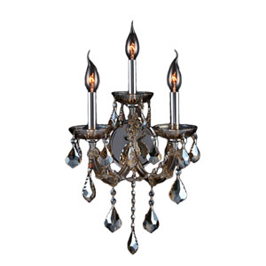 Lyre Polished Chrome Three-Light Wall Sconce