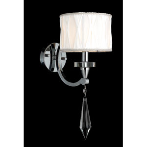 Cutlass Chrome Finish with Clear-Crystals Wall Sconce