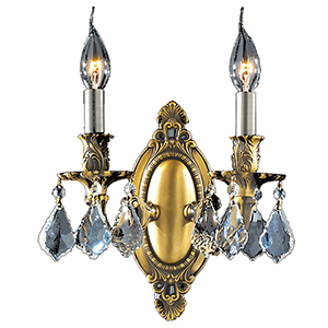 Windsor Antique Bronze Two-Light Wall Sconce