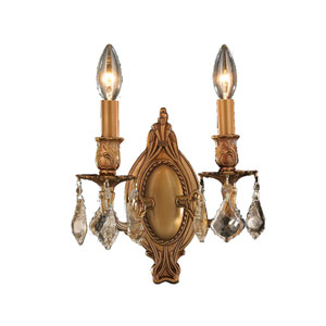 Windsor French Gold Two-Light Wall Sconce
