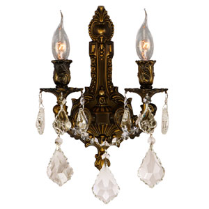 Versailles Antique Bronze Two-Light Wall Sconce