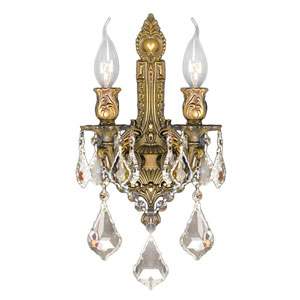 Versailles French Gold Two-Light Wall Sconce