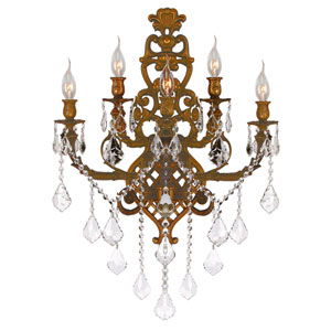 Versailles French Gold Five-Light Wall Sconce