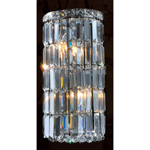 Cascade Four-Light Chrome Finish with Clear  Crystal Wall Sconce